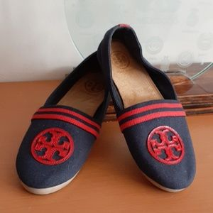 Tory Burch Raymond Canvas  Flats 6